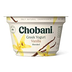 Chobani Non-Fat Greek Yogurt, Vanilla Blended 5.3oz