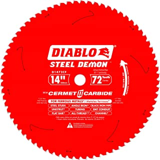Diablo D1472CF 14-inch Steel Demon 72T Cermet II Carbide Ferrous Metal Saw Blade
