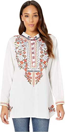 Charlane Long Sleeve Embroidered Top