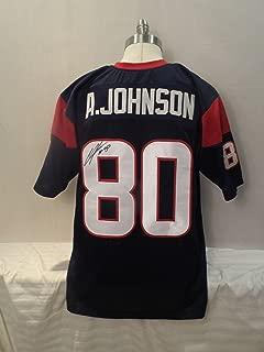 Andre Johnson Signed Houston Texans Blue Autographed Jersey Novelty Custom Jersey