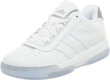 adidas Men's Fulton Low Basketball Shoe,White/White/Alumin,14 M ...