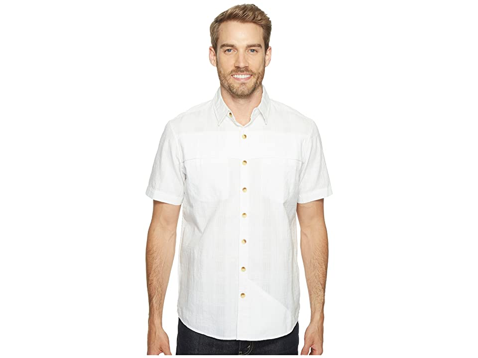 Ecoths Travis Short Sleeve Shirt (White) Men