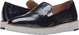 Navy Crinkle Patent Leather