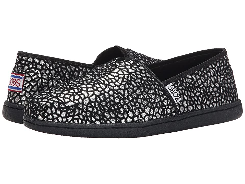 BOBS from SKECHERS Bobs Bliss Extra Extra (Black/Silver) Women