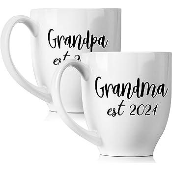 Best Travel Mug 2021 Amazon.com: New Grandparents 2021 Pregnancy Announcement Coffee