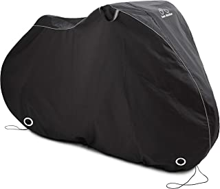 TeamObsidian Bike Cover - Waterproof Outdoor Bicycle Storage for 1 or 2 Bikes - Heavy Duty Ripstop Material - Offers Constant Protection for All Types of Bicycles All Through The 4 Seasons