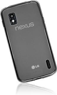mumbi TPU 保护套适用于 Google Nexus 4手机壳透明黑色