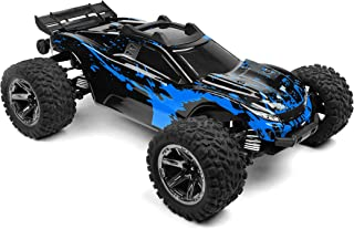 SummitLink Custom Body Muddy Blue Over Black Style Compatible for Rustler 4X4 1/10 Scale RC Car or Truck (Truck not Includ...