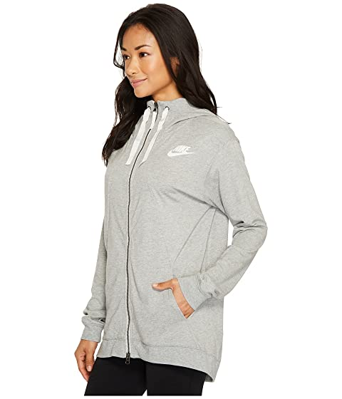 gris Nike Hoodie Sail oscuro Gym Classic Heather Zip Full Sportswear S7CSvrY