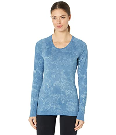 Smartwool Merino 150 Baselayer Long Sleeve (Cloudy Blue Marble Wash) Women