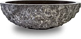 Chiseled Natural Stone Bathroom Sink Black Granite