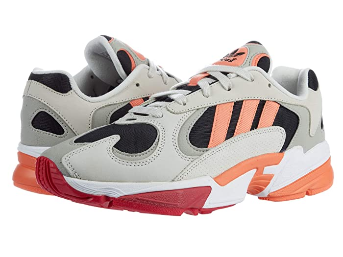 adidas Originals  Yung-1 (Core Black/Semi Coral/Raw White) Mens Shoes