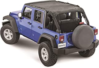 MasterTop 14221401 Freedom Mesh Black JKU 4 Door Bimini Plus Jeep Brief Tops