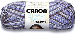 Caron Simply Soft Party Yarn - (4) Medium Worsted Gauge - 3 oz - Violet - For Crochet, Knitting & Crafting