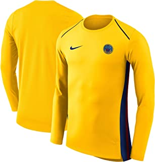 new product 66599 08bed Nike Men s NBA Golden State Warriors Gold City Edition Hyperelite Long  Sleeve Performance T-Shirt