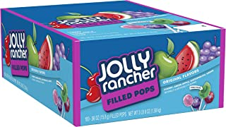 JOLLY RANCHER Filled Candy Lollipops, Assorted Flavors, 100 Count