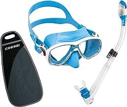 Cressi MAREA & SUPERNOVA DRY, Snorkeling Gear - Mask Dry Snorkel Set with Bag - Cressi Italian Quality Since 1946