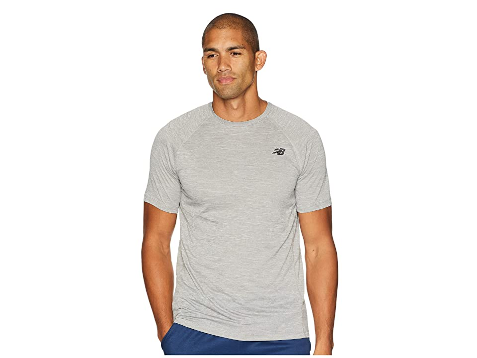 New Balance Tenacity Short Sleeve Tee (Athletic Grey) Men