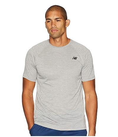 New Balance Tenacity Short Sleeve Tee (Athletic Grey) Men