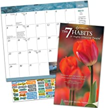 7 Habits of Highly Effective People Calendar 2020 Bundle - Deluxe 2020 Pocket Planner Calendar with Over 100 Calendar Stickers (Motivational Gifts, Office Supplies)