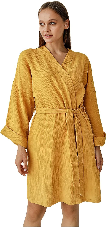 Womens Lightweight Gauze Super popular specialty store Kimono Robe - Sale special price Soft C Summer Short Beach