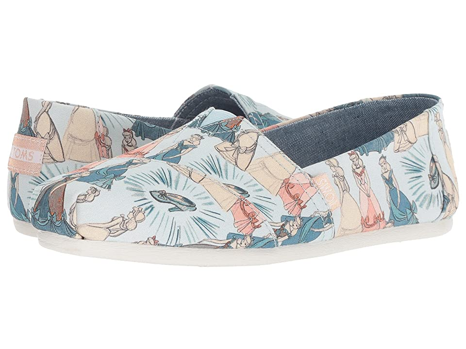 TOMS Disney(r) Alpargata (Blue Cinderella Printed Canvas) Women