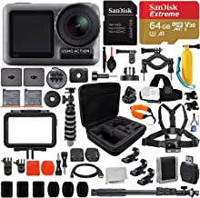 $369 » DJI Osmo Action Camera(#CP.OS.00000020.01) with Deluxe Accessory Bundle - Includes: SanDisk Extreme 64GB microSDHC Memory Card & Much More