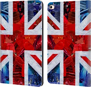 Official Artpoptart Union Jack Flags Leather Book Wallet Case Cover Compatible for iPad Mini (2019)