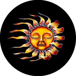 TIRE COVER CENTRAL Sleeping Sun Spare Tire Cover fits Camper Jeep RV Scamp Trailer etc(225/75r16-drop Down Size menu