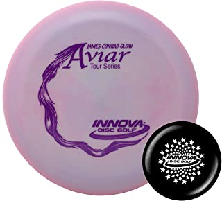 Innova Disc Golf Pro Glow Aviar James Conrad Tour Series 2019 Big Bead with Limited Edition Stars Stamped Innova Mini – Colors Will Vary - 173-175g