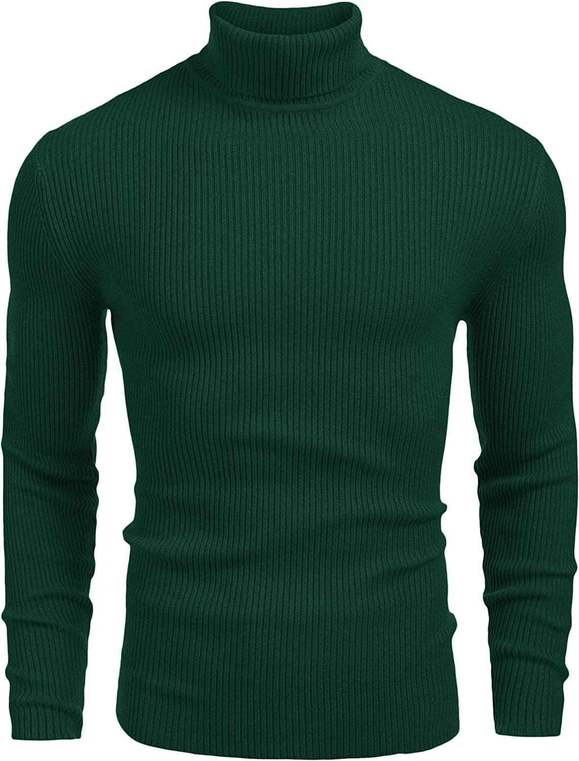 COOFANDY Chicago Nashville-Davidson Mall Mall Mens Ribbed Slim Fit Knitted Turtleneck Sweate Pullover