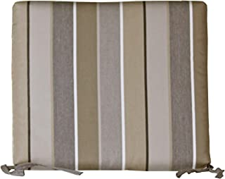 Outdoor Dining Chair Cushion - Sunbrella Milano Charcoal Fabric - Amish Made in The USA