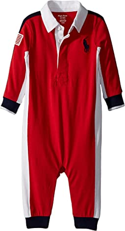 Ralph Lauren Baby - Cotton Jersey Rugby Coverall (Infant)