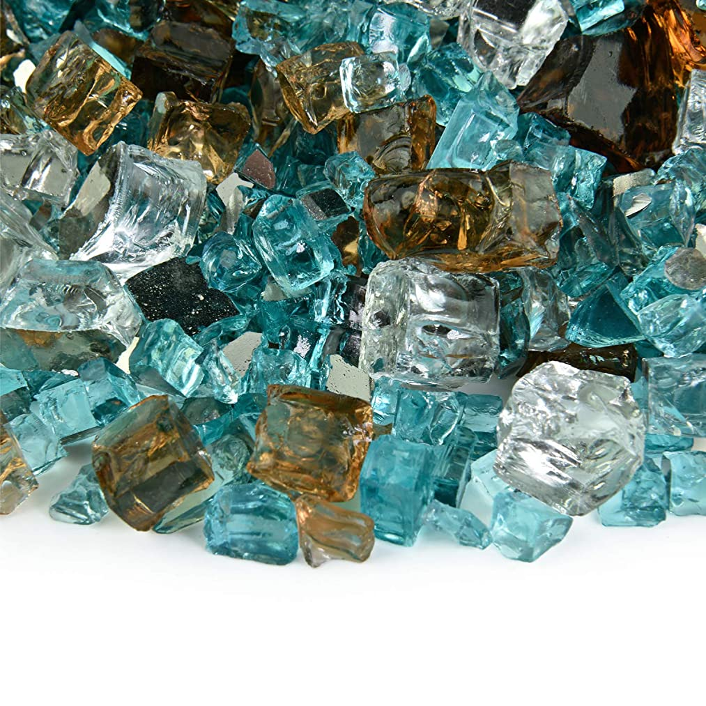 Barksdale - Fire Glass Blend for Indoor and Outdoor Fire Pits or Fireplaces | 10 Pounds | 1/2 Inch