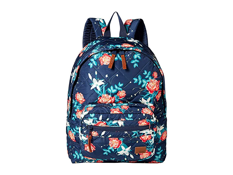 Roxy Morning Light Backpack (Dress Blues Garden Lily) Backpack Bags 00f800194bcc6