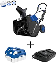 Snow Joe 24V-X2-SB18 48-Volt iON+ Cordless Snow Blower Kit | 18-Inch | W/ 2 x 4.0-Ah..