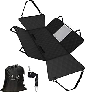 Kululu Dog Car Seat Cover for Back Seat, Heavy Duty Waterproof Scratchproof and Non Slip Pet Seat Cover with Mesh Window f...