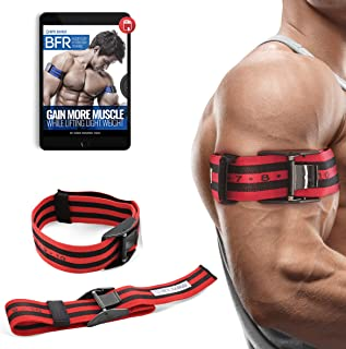 Occlusion Training Bands by BFR Bands PRO X Model, 2 Pack, Blood Flow Restriction Bands with Research-Backed 2