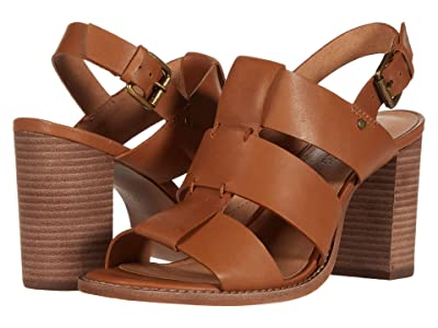 Madewell Gail Wide Strap Heeled Sandal (English Saddle) Women