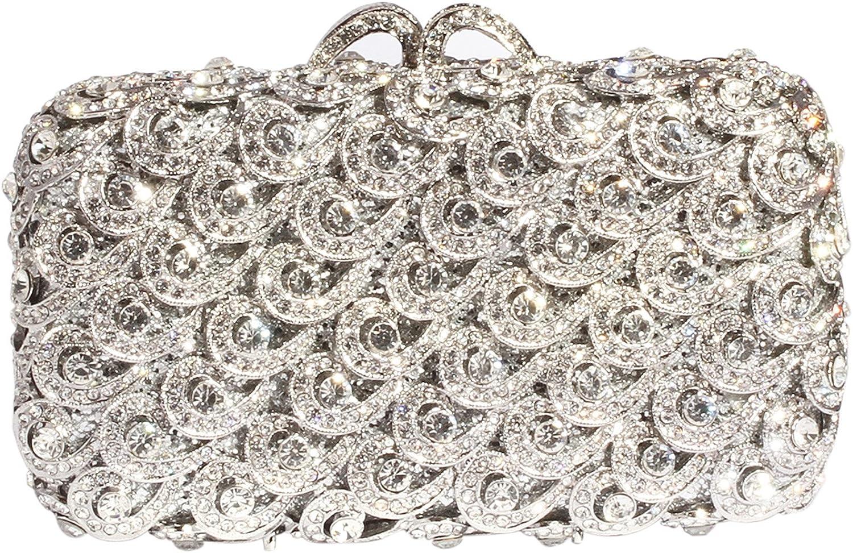 Digabi Wave Pattern Women Crystal Evening Clutch Bags