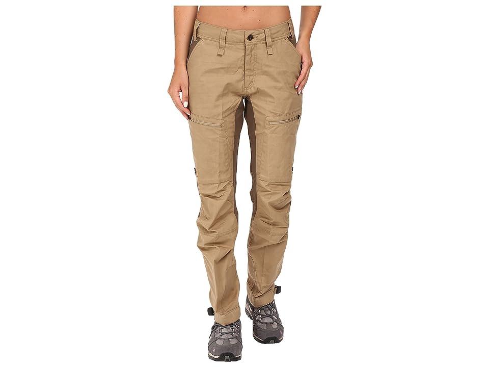 Fjallraven Abisko Lite Trekking Trousers (Sand/Tarmac) Women