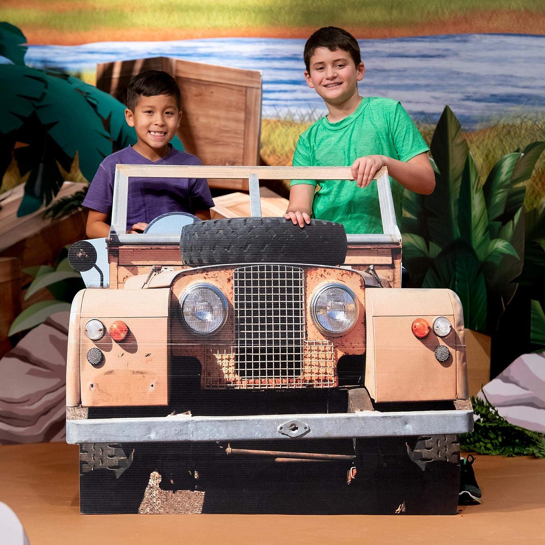 Inexpensive 3 Surprise price ft. 4 in. Jungle Safari Standee Vehicle Cardboard Jeep Cutout