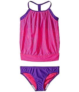 Blouson Tankini Two-Piece Swimsuit Set (Big Kids)