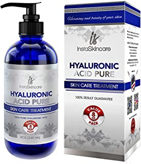 Hyaluronic Acid Serum for Face - 100% Pure Medical Quality Clinical Strength Formula - Anti aging formula, Pore Minimizer ...