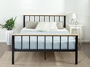 Zinus Brianne Metal and Wood Platform Bed, King