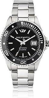 Philip Watch - Hombre-Reloj Despertador automático Acero Inoxidable Caribe R8223597010
