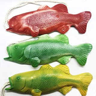 Pack of 3 Bass Fish Soap on a Rope, Fishing Gifts, Funny Gifts for Men, Funny Gifts for Dad, Fishing Gear, Unique Gifts for Men, Gag Gifts