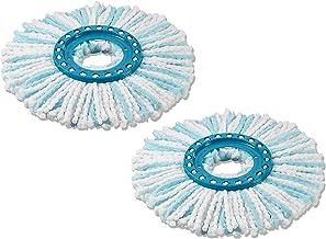 Leifheit vervangingskop Clean Twist Disc Mop micro duo - set van 2, voor alle soorten vloeren, ideale opname van vuil dank...
