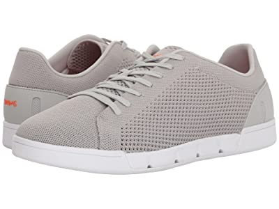 SWIMS Breeze Tennis Knit Sneakers (Light Gray/White) Men