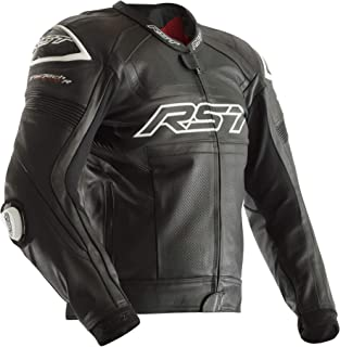 RST 2049 Tractech Evo R CE Leather Racing Sports Motorcycle Jacket - White 46